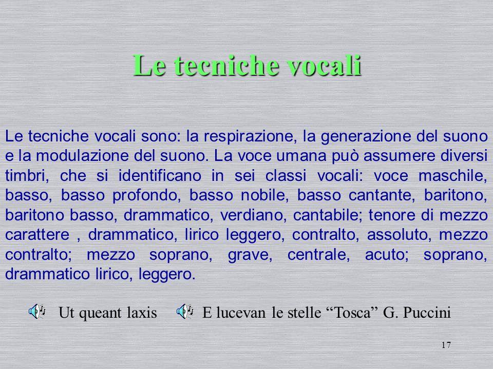 Le tecniche vocali