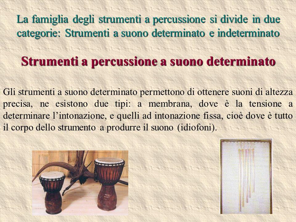 Strumenti a percussione a suono determinato