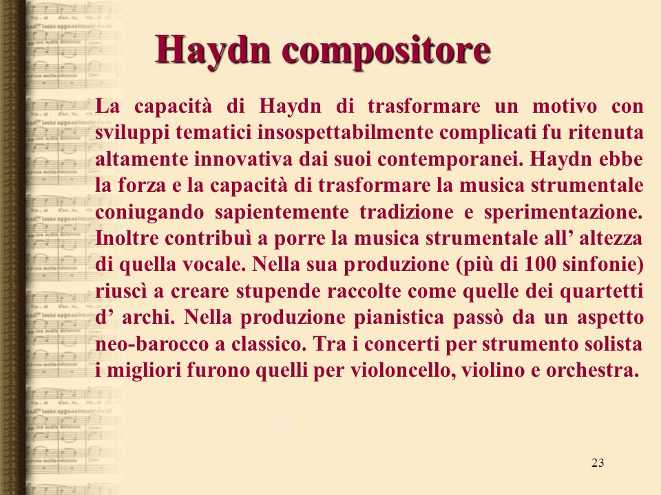 Haydn compositore