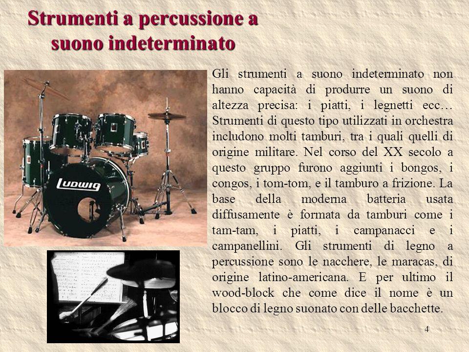 Strumenti a percussione a suono indeterminato