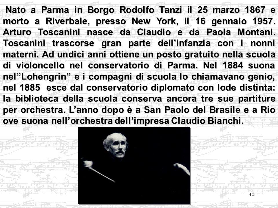 Nato a Parma in Borgo Rodolfo Tanzi il 25 marzo 1867 e morto a Riverbale, presso New York, il 16 gennaio 1957.