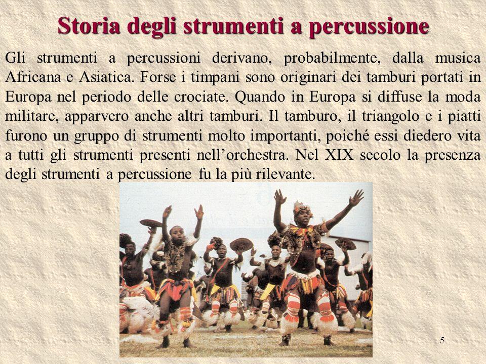 Storia degli strumenti a percussione