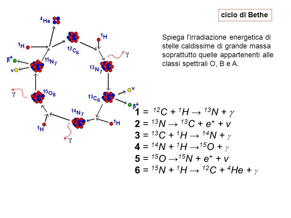 1 = 12C + 1H → 13N + g 2 = 13N → 13C + e+ + v 3 = 13C + 1H → 14N + g
