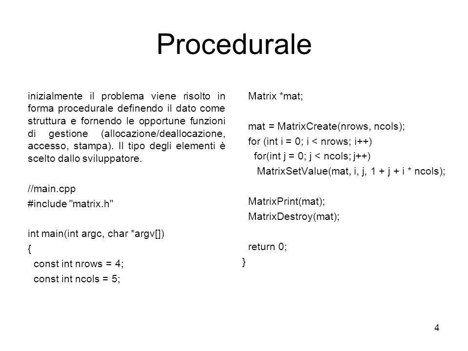 Procedurale