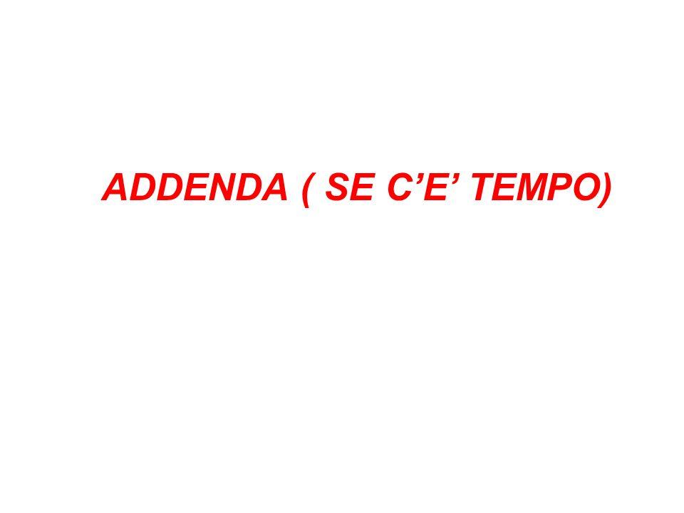 ADDENDA ( SE C'E' TEMPO)