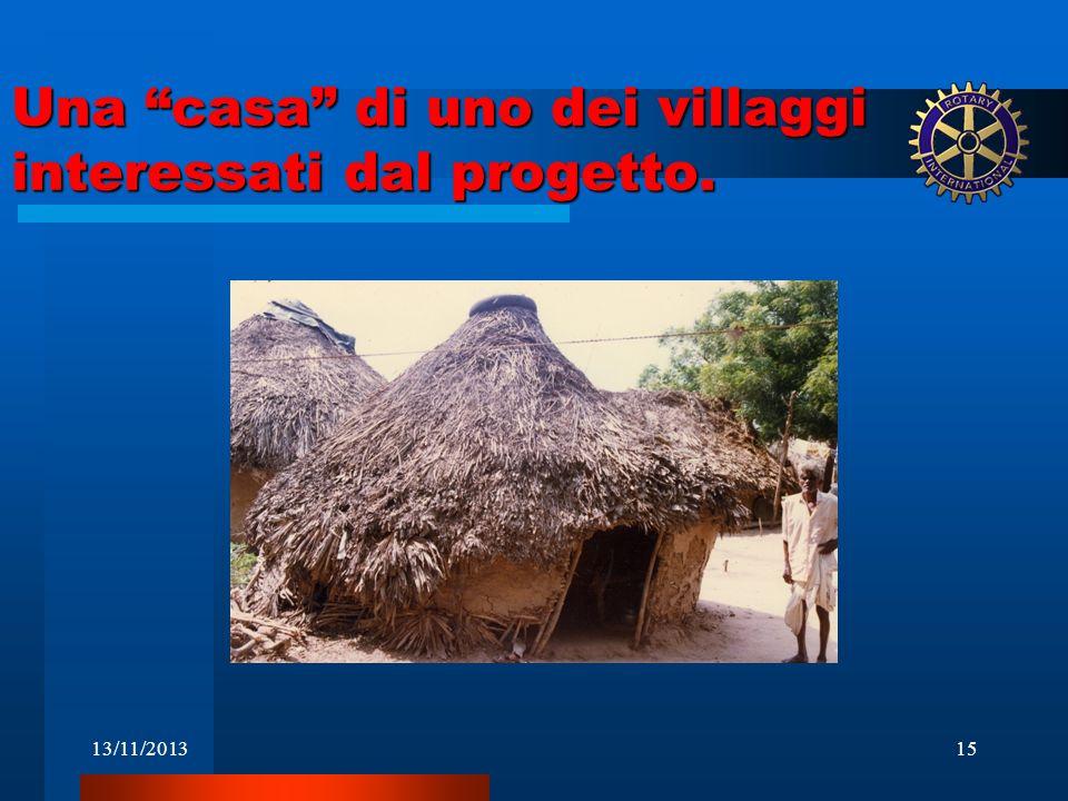 Una casa di uno dei villaggi interessati dal progetto.