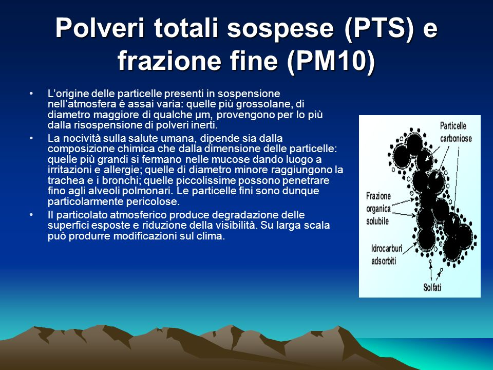 Polveri totali sospese (PTS) e frazione fine (PM10)
