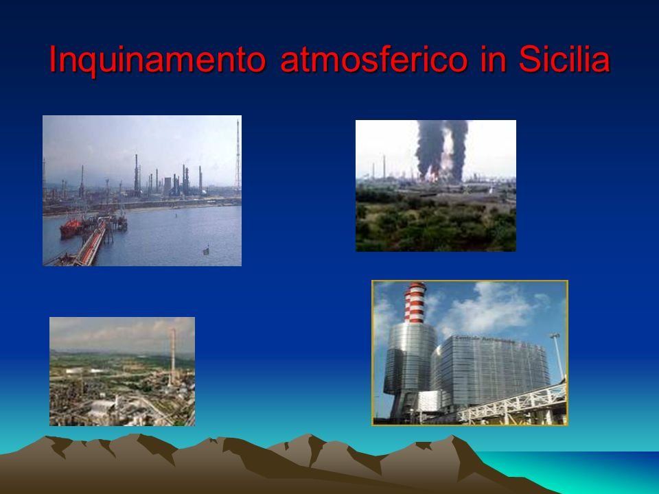Inquinamento atmosferico in Sicilia