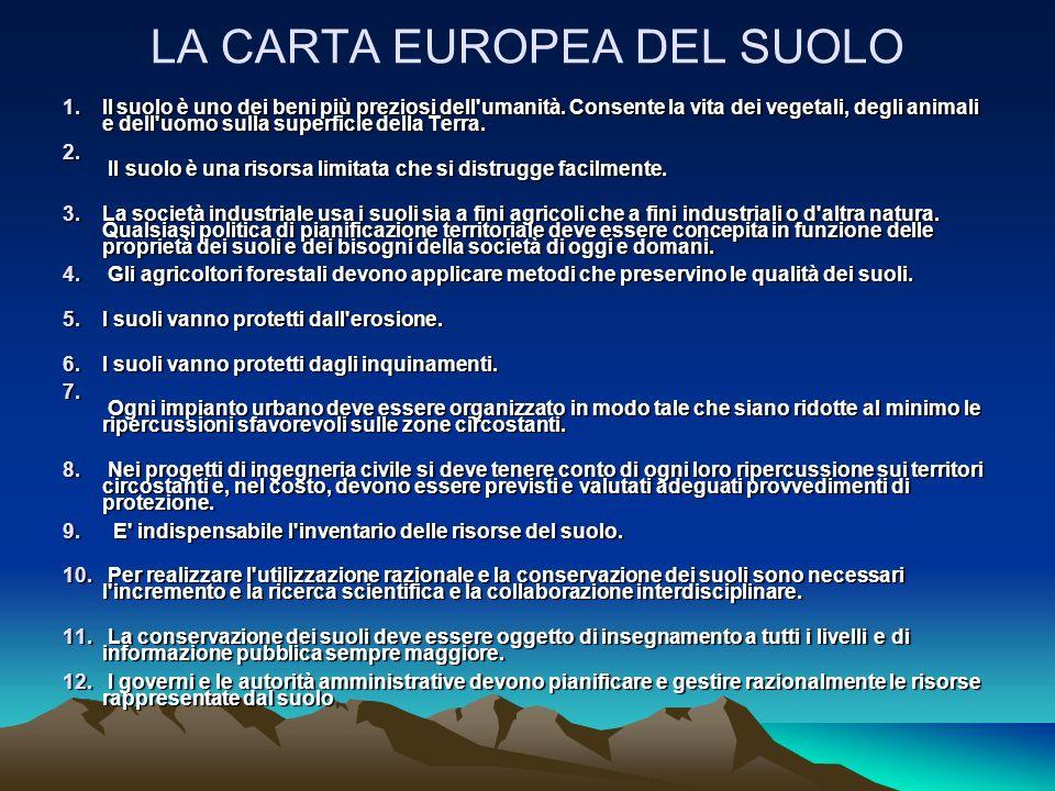 LA CARTA EUROPEA DEL SUOLO
