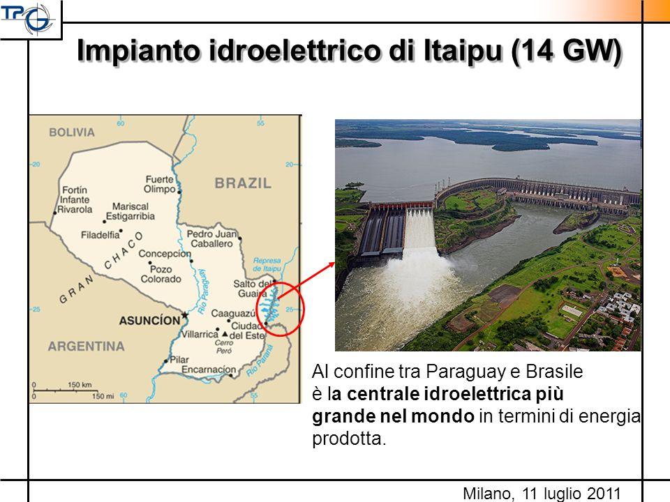 Impianto idroelettrico di Itaipu (14 GW)