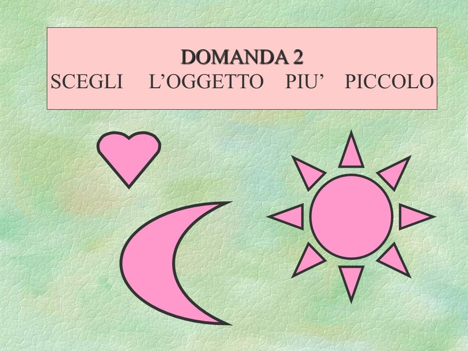 SCEGLI L'OGGETTO PIU' PICCOLO