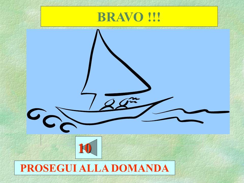 BRAVO !!! 10 PROSEGUI ALLA DOMANDA