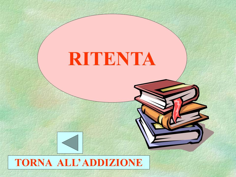 RITENTA TORNA ALL' ADDIZIONE