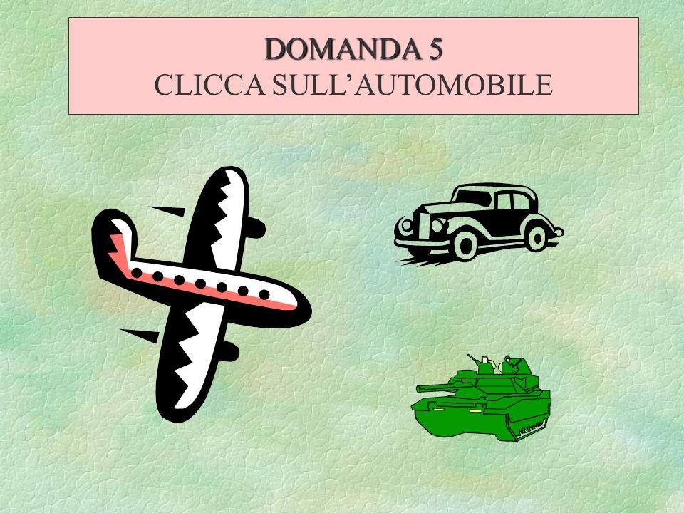 CLICCA SULL'AUTOMOBILE