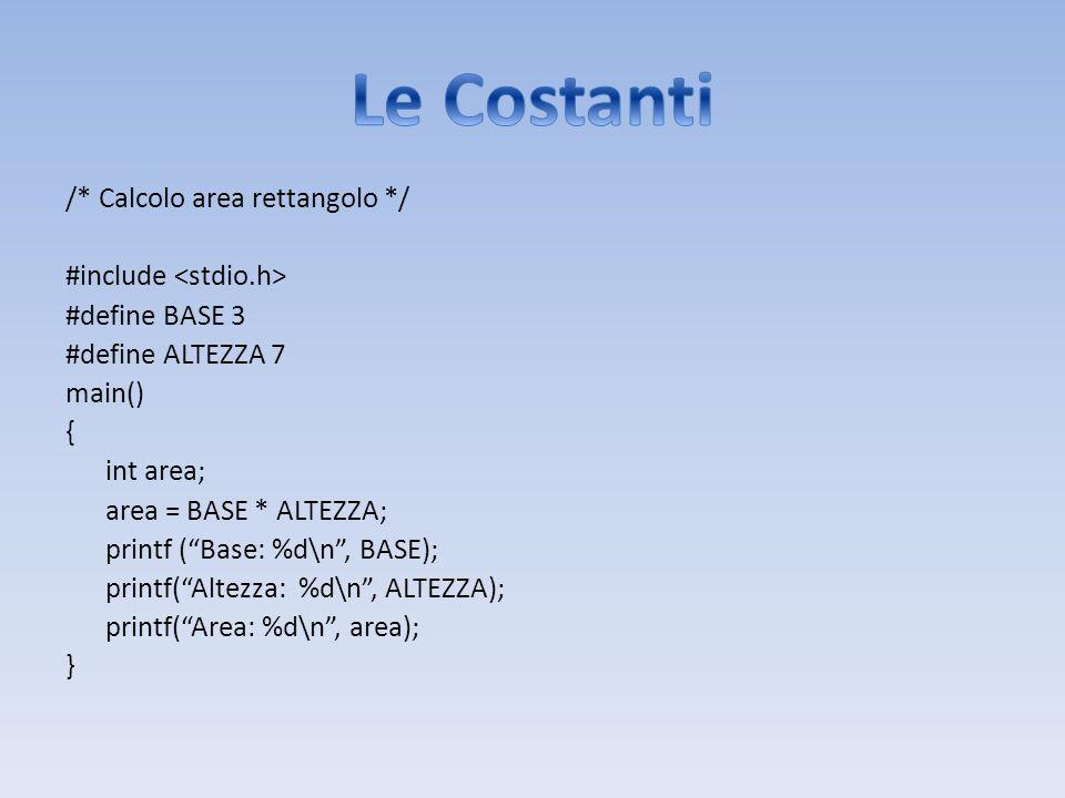Le Costanti