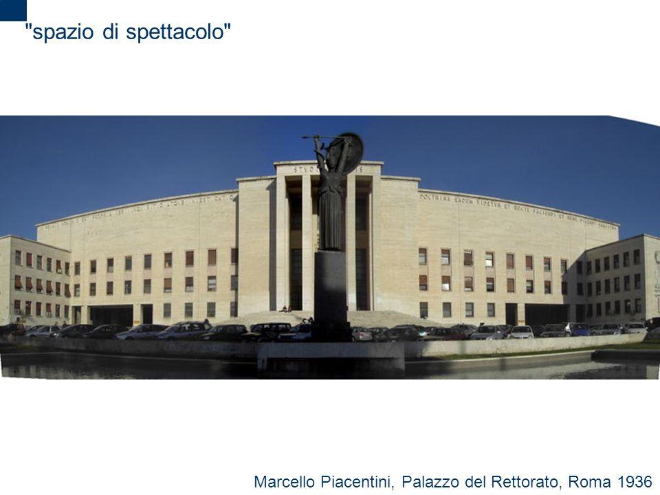 spazio di spettacolo Marcello Piacentini, Palazzo del Rettorato, Roma 1936