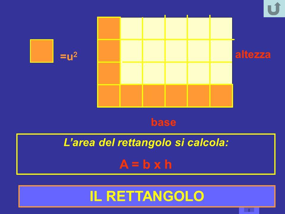 L'area del rettangolo si calcola: