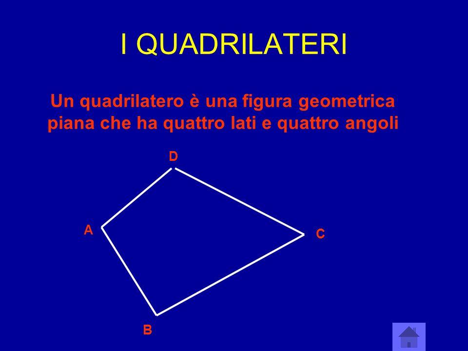I QUADRILATERI Un quadrilatero è una figura geometrica piana che ha quattro lati e quattro angoli. D.