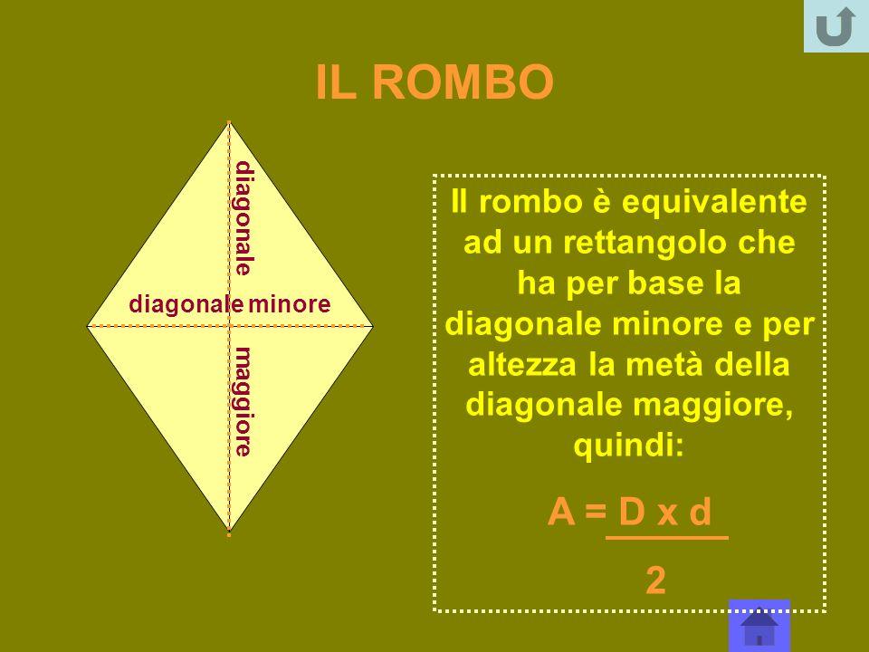 IL ROMBO diagonale maggiore.
