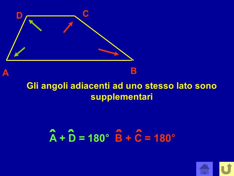 Gli angoli adiacenti ad uno stesso lato sono supplementari