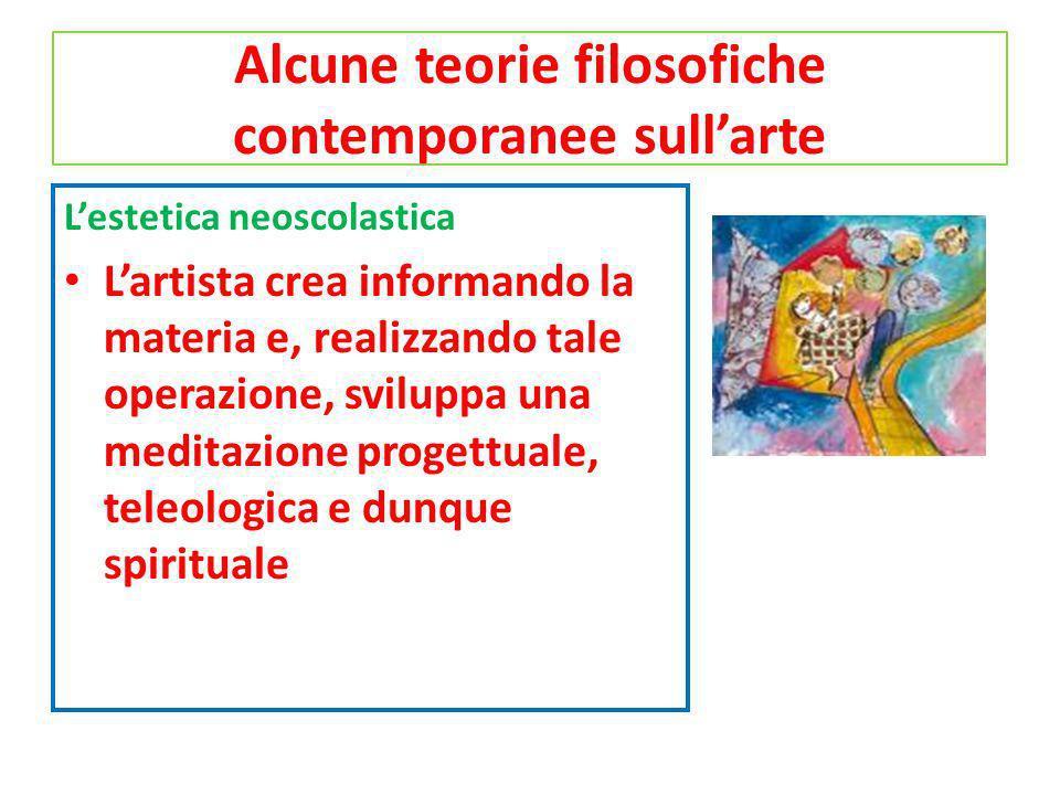 Alcune teorie filosofiche contemporanee sull'arte
