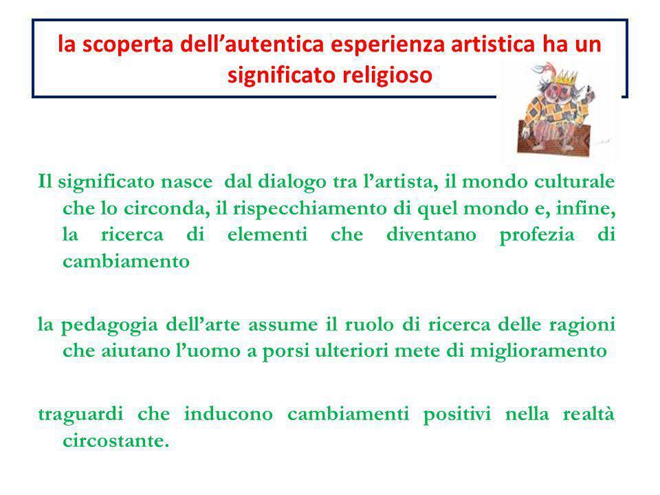 la scoperta dell'autentica esperienza artistica ha un significato religioso