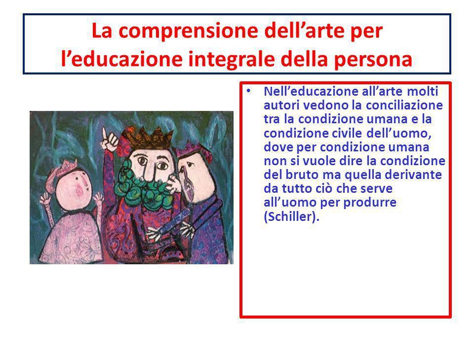 La comprensione dell'arte per l'educazione integrale della persona