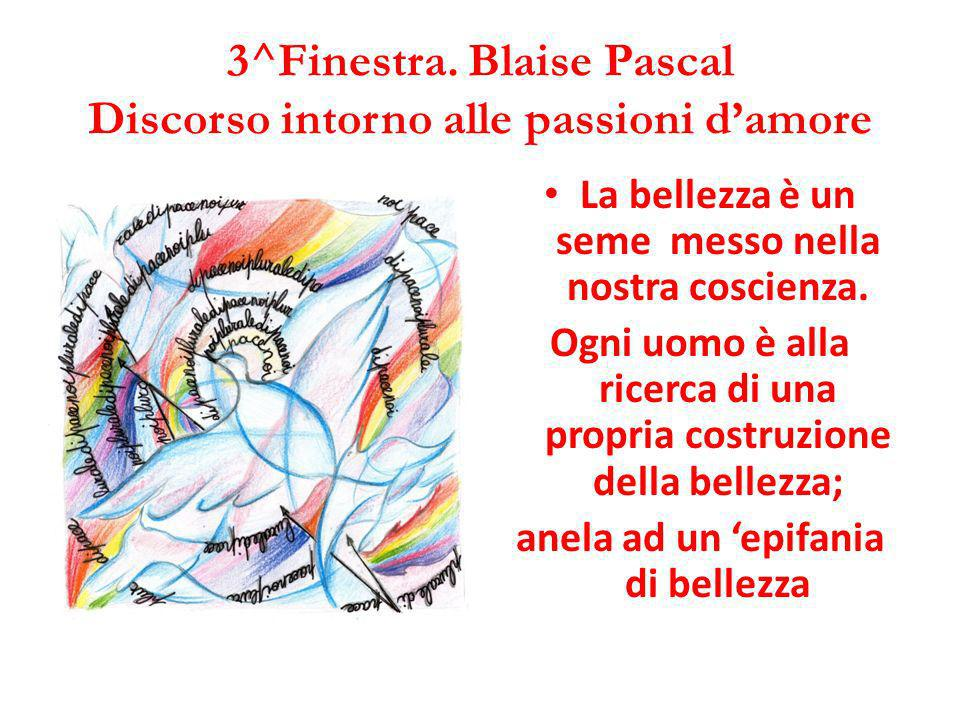 3^Finestra. Blaise Pascal Discorso intorno alle passioni d'amore