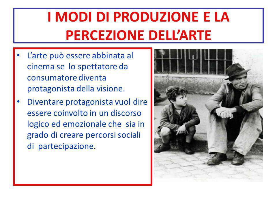 I MODI DI PRODUZIONE E LA PERCEZIONE DELL'ARTE