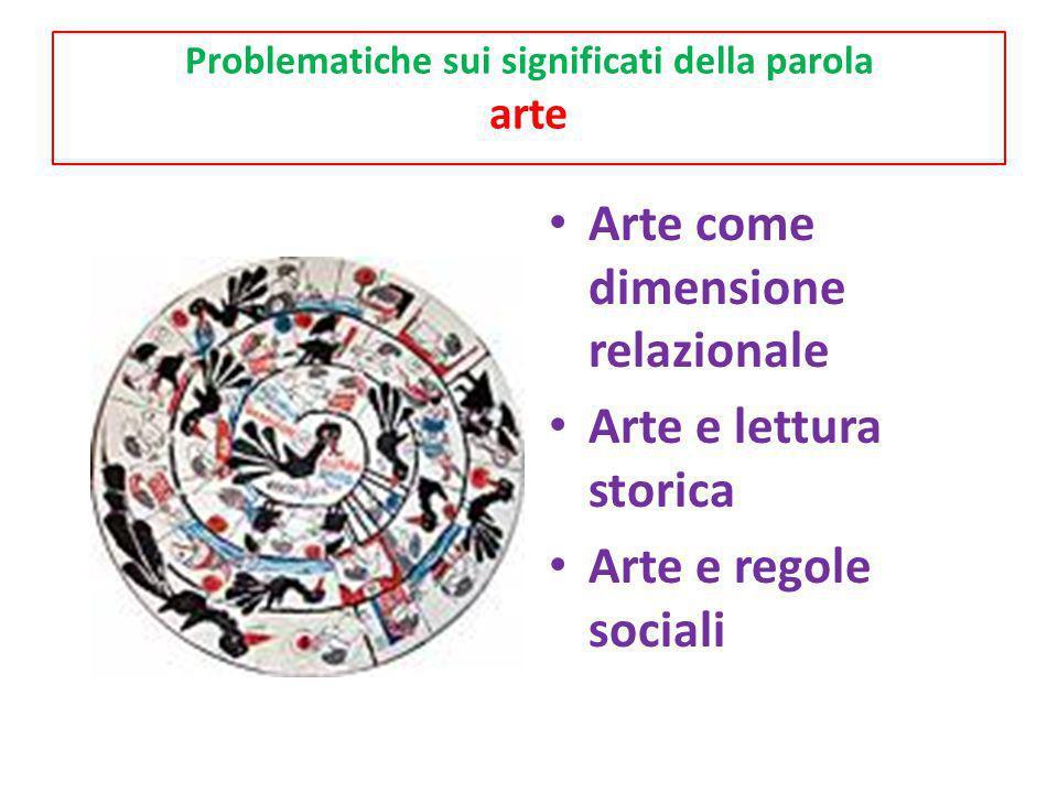Problematiche sui significati della parola arte