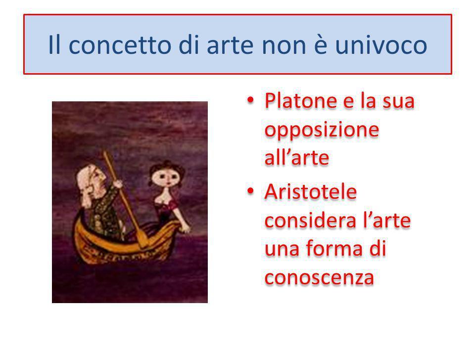 Il concetto di arte non è univoco