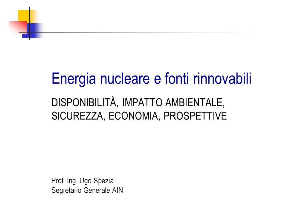 Energia nucleare e fonti rinnovabili