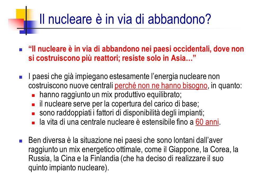 Il nucleare è in via di abbandono