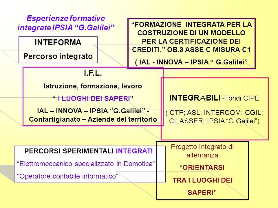 Esperienze formative integrate IPSIA G.Galilei