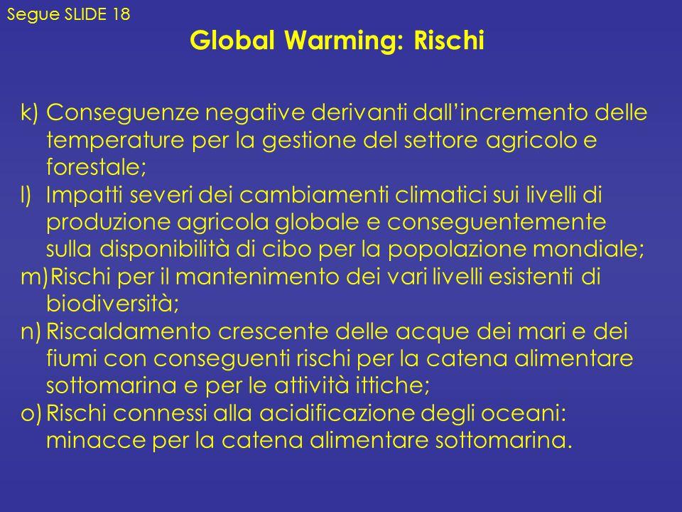 Global Warming: Rischi