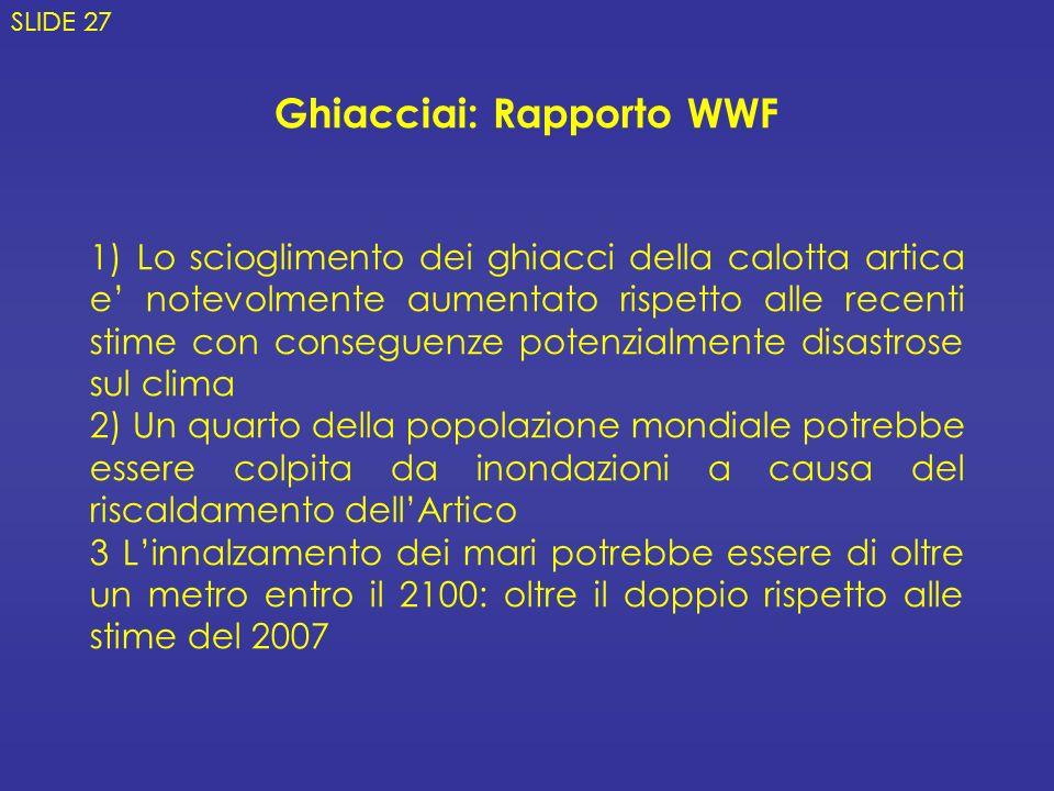 Ghiacciai: Rapporto WWF