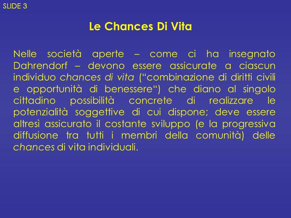 SLIDE 3 Le Chances Di Vita.