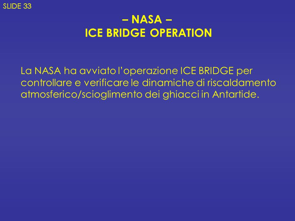 – NASA – ICE BRIDGE OPERATION
