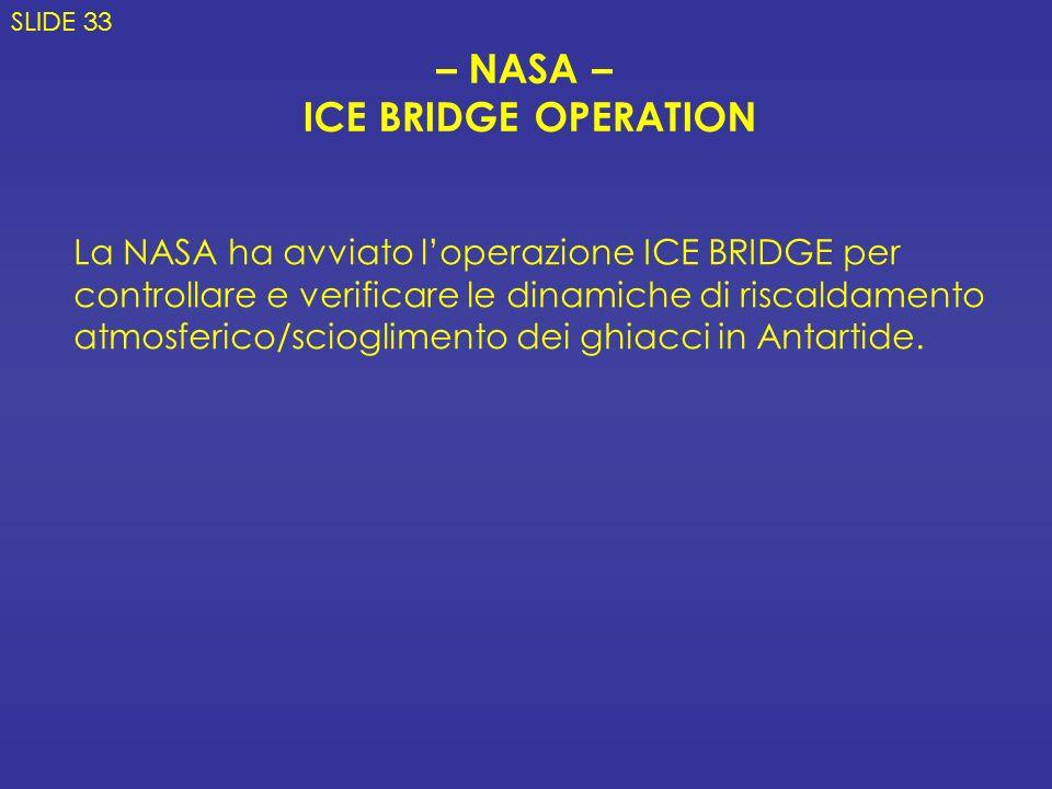 – NASA – ICE BRIDGE OPERATION