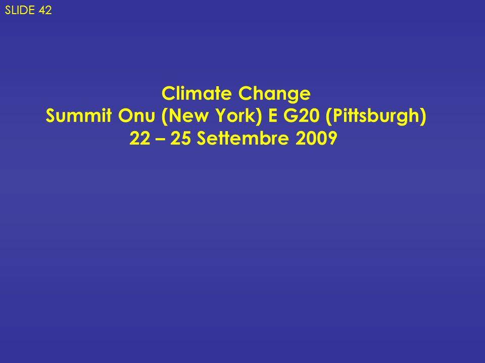 Summit Onu (New York) E G20 (Pittsburgh)