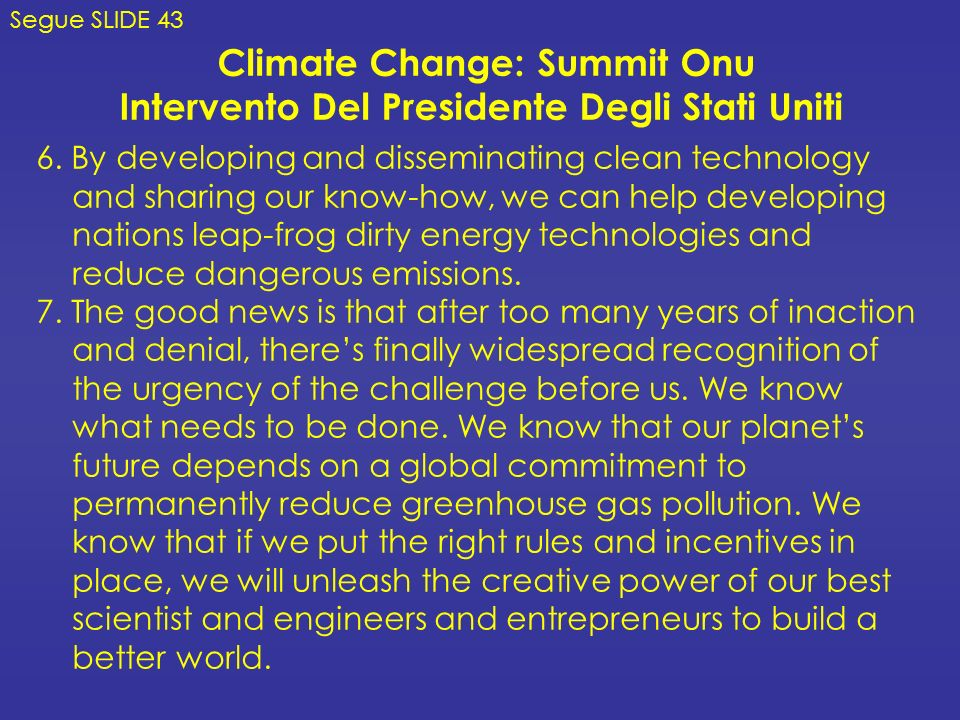 Climate Change: Summit Onu
