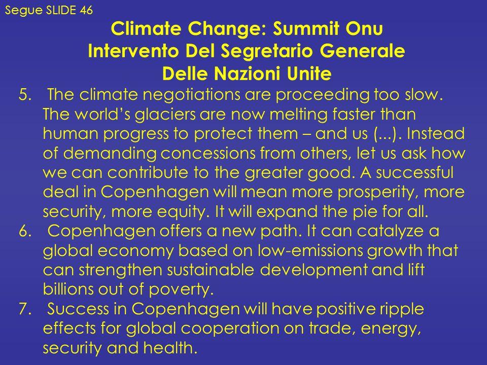 Climate Change: Summit Onu Intervento Del Segretario Generale