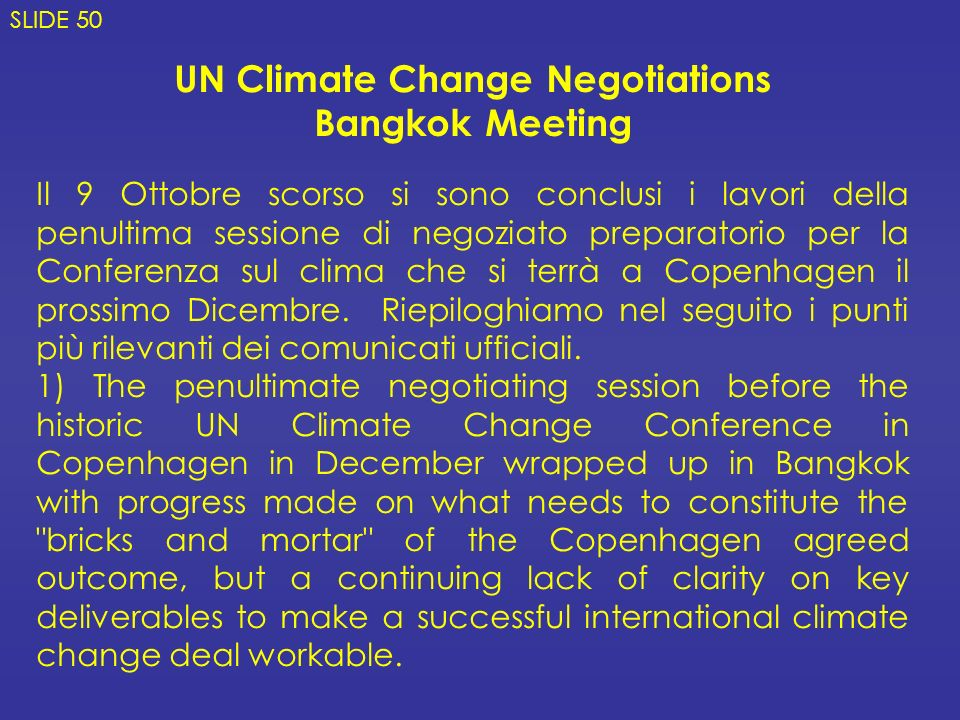 UN Climate Change Negotiations
