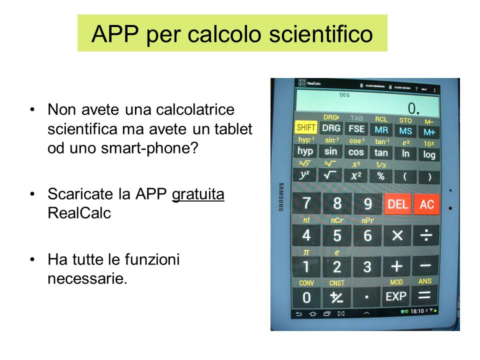 APP per calcolo scientifico