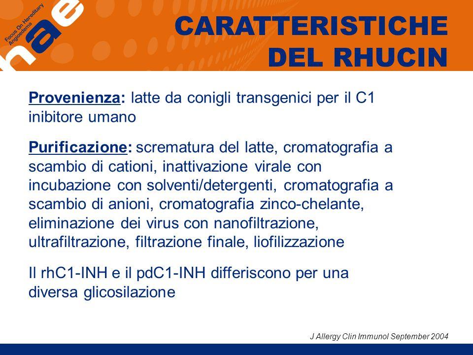 CARATTERISTICHE DEL RHUCIN