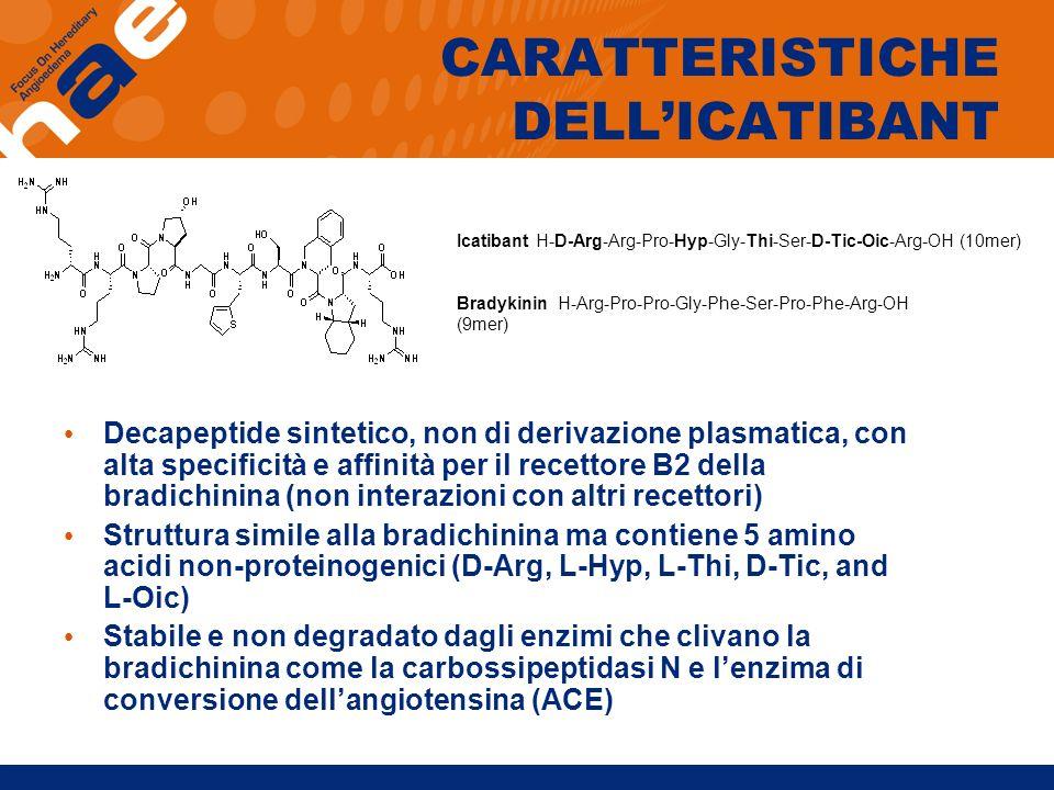 CARATTERISTICHE DELL'ICATIBANT