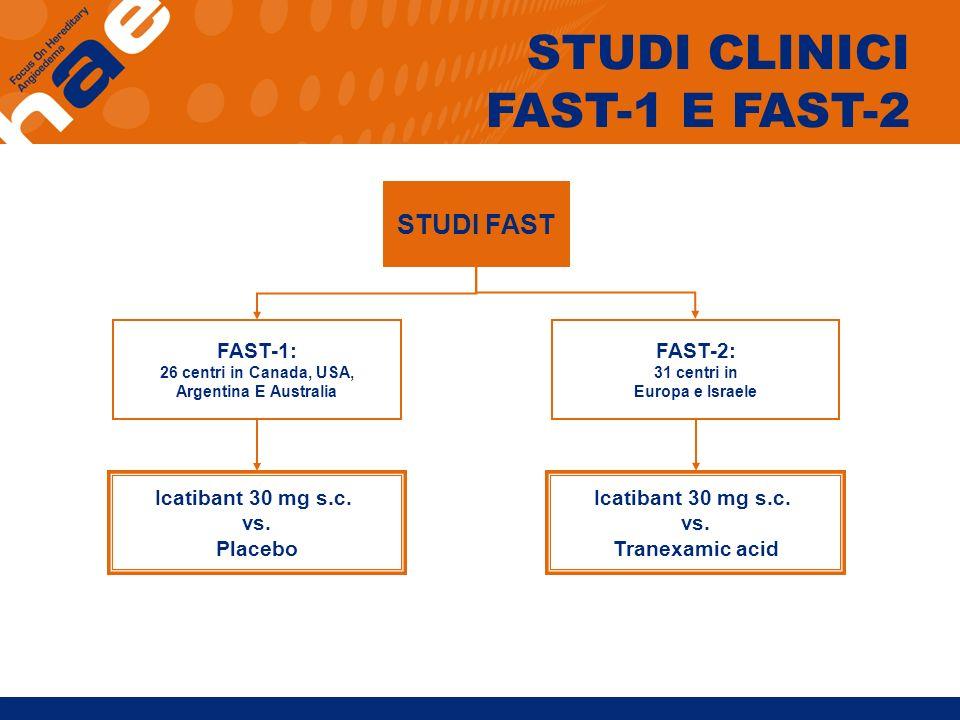 STUDI CLINICI FAST-1 E FAST-2 STUDI FAST FAST-1: FAST-2: