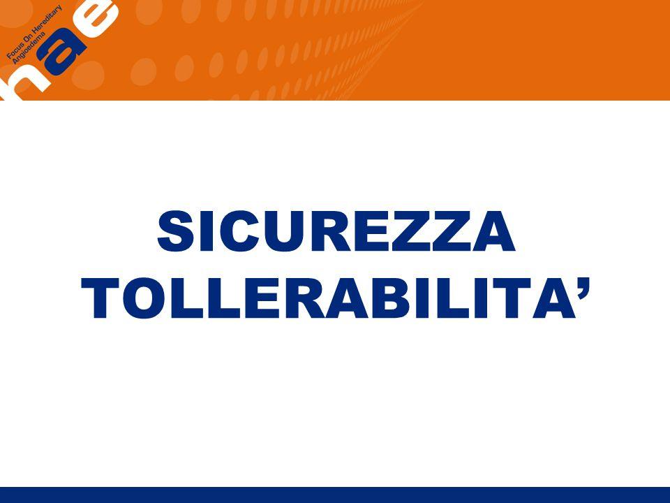 SICUREZZA TOLLERABILITA'