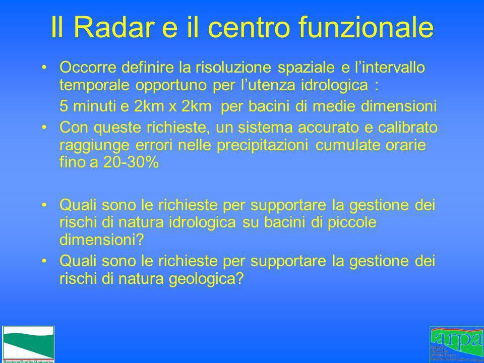 Il Radar e il centro funzionale