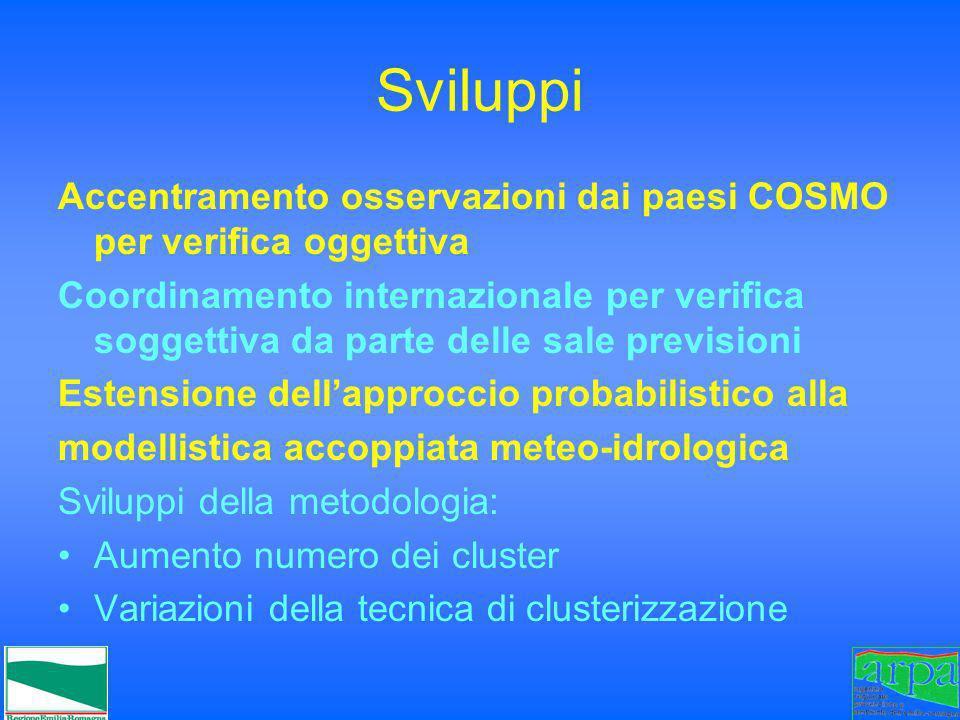 SviluppiAccentramento osservazioni dai paesi COSMO per verifica oggettiva.